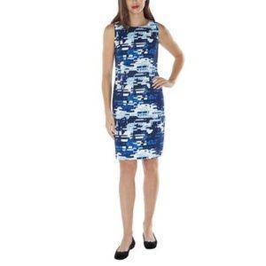 Mario Serrani Shift Dress Blue Print